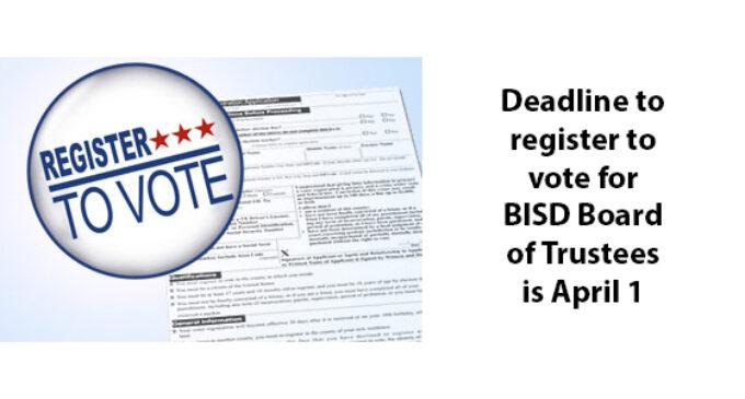 BISD Board of Trustees election set for May 1; voter registration deadline is April 1