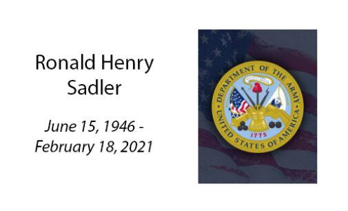 Ronald Henry Sadler
