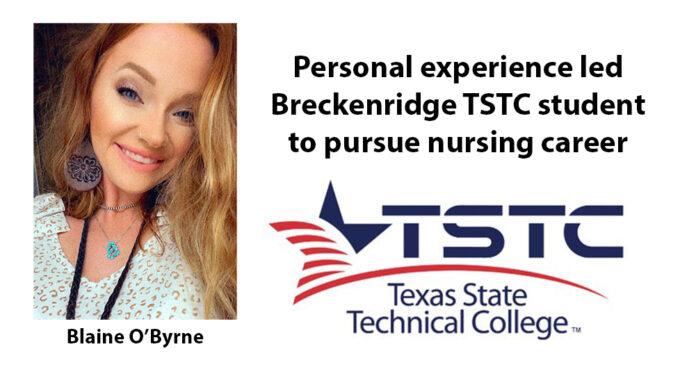 Trying experience leads O'Byrne to TSTC Nursing program