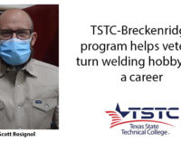 Veteran plans to turn weekend welding hobby into second career with TSTC certificate