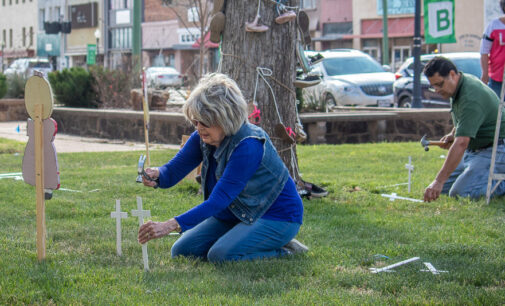 Child Welfare Board honors child abuse victims with annual courthouse display