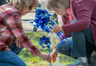 Decorating for child abuse prevention