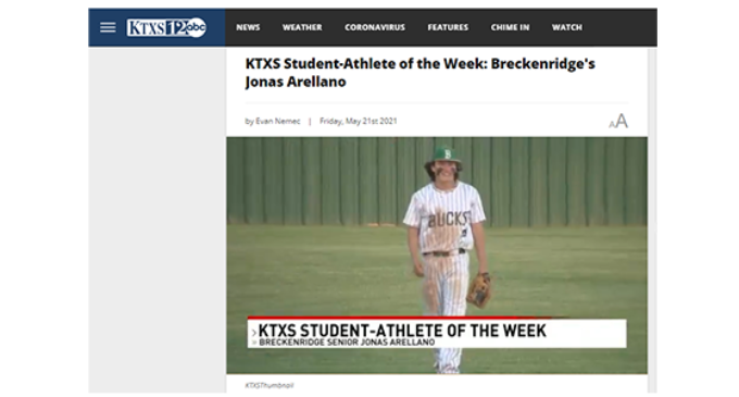 Arellano named KTXS Student Athlete of the Week