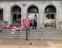 Falling flag causes minor damage to Stephens County Courthouse