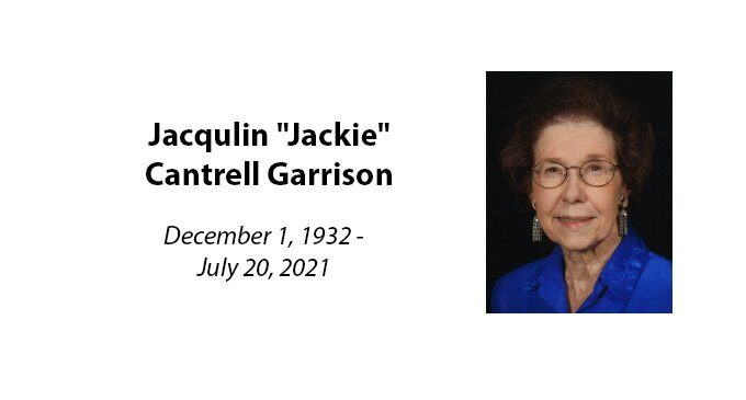 """Jacqulin """"Jackie"""" Cantrell Garrison"""