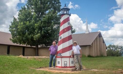 Trinity Baptist installs 'Lighthouse on the Hillside'