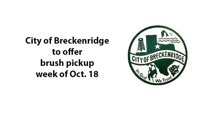 City to pick up brush week of Oct. 18; curbside deadline set for Oct. 15