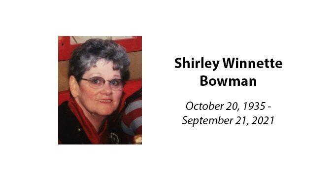 Shirley Winnette Bowman
