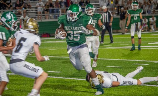 Buckaroos start down road to playoffs with 44-29 win over Clyde
